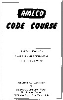 Ameco Code Course (documentation provided with code course records)