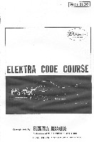 Electra Code Course (documentation provided with code course record)