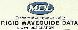 Microwave Development Laboratories (MDL) Rigid Waveguide Data, American Slide Chart 2000