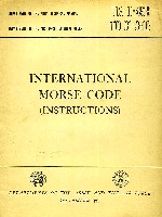 International Morse Code Instructions